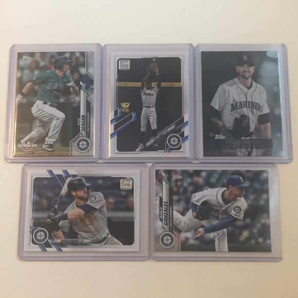 Lot of 5 Seattle Mariners Topps MLB Baseball Cards